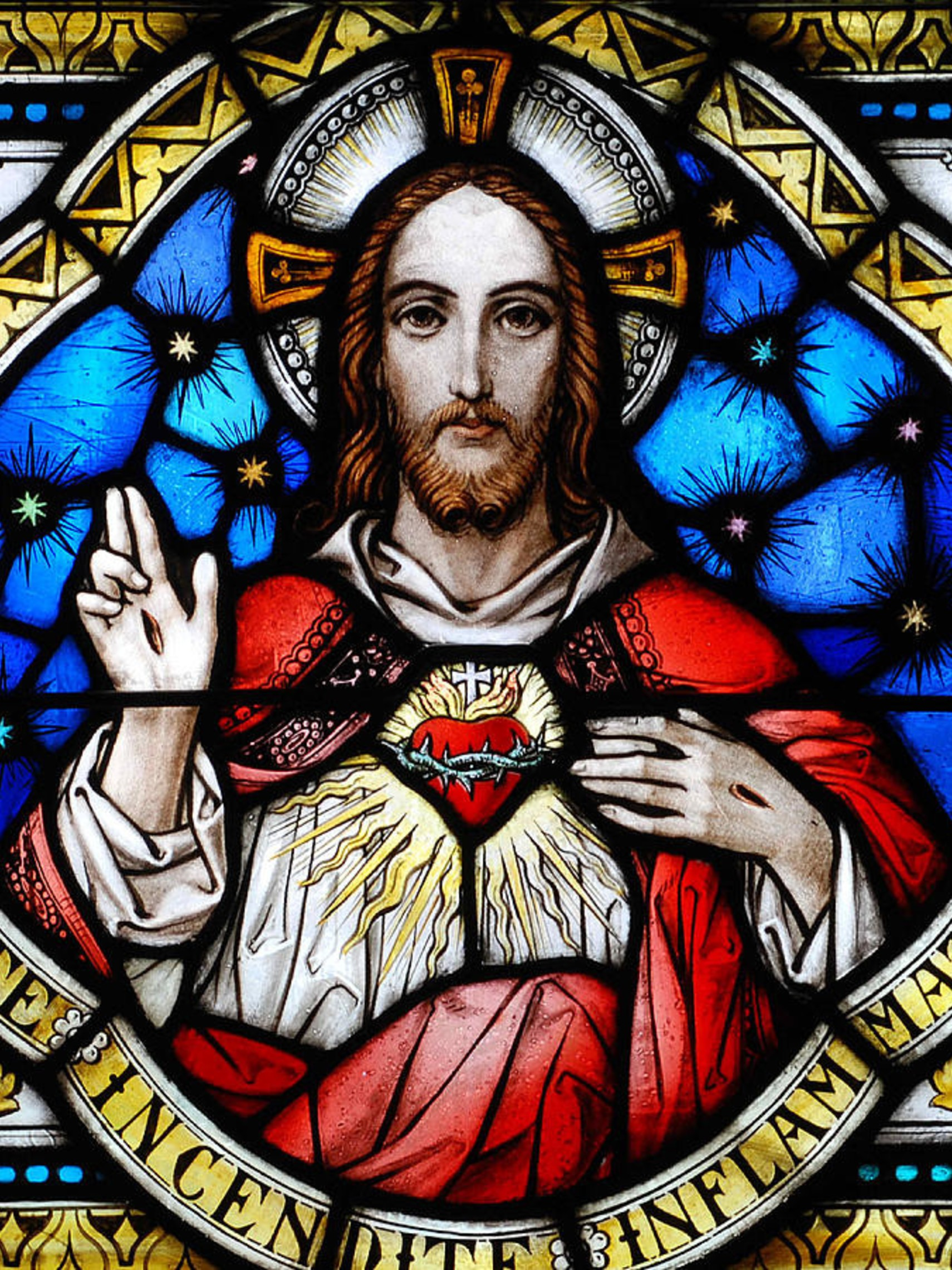 1 Sacred Heart Of Jesus In Stained Glass Philip Ralley